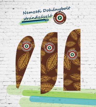 Nemzeti Dohánybolt strandzászló / beachflag 3.