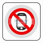 Mobiltelefon használata tilos matrica/felirat/tábla