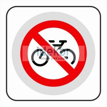 Kerékpárral bejönni tilos matrica/felirat/tábla