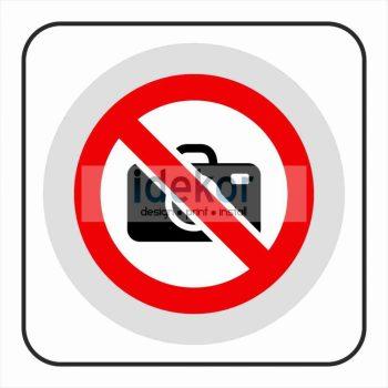 Fényképezni tilos matrica/felirat/tábla