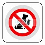 Kutyával bejönni tilos matrica/felirat/tábla