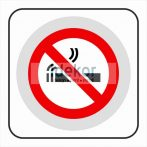 Dohányozni tilos matrica/felirat/tábla