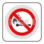 Nyílt láng használata tilos matrica6felirat/tábla