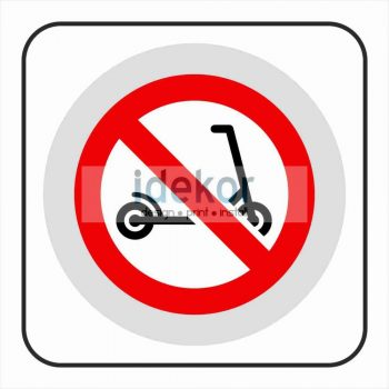 Rollert behozni tilos matrica/felirat/tábla