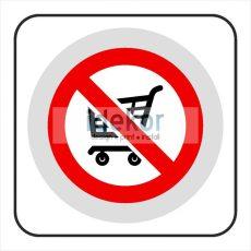 Bevásásrlókocsit kivinni tilos matrica/felirat/tábla