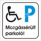 Mozgássérült parkoló