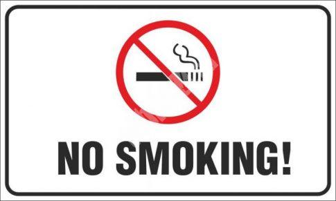 Tilos a dohányzás! angol (No smoking!)