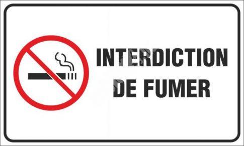 Tilos a dohányzás! francia (Interdiction de fumer)