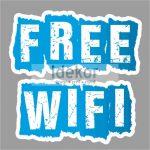Free wifi matrica - nyomtatott-vágott