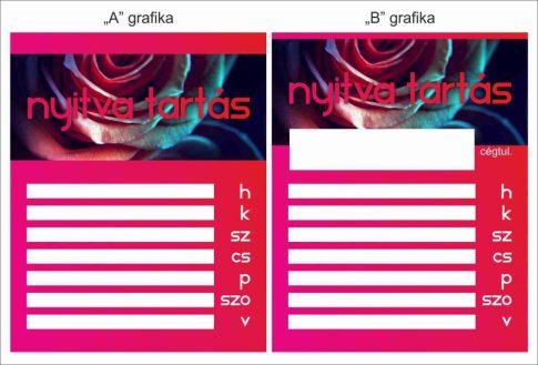 Nyitvatartás 23 - rózsás