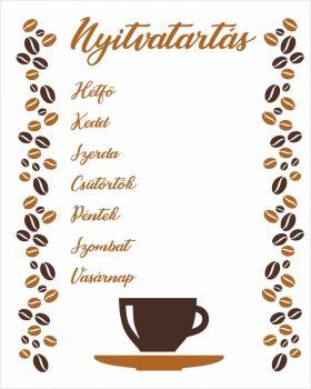 Nyitvatartás 28 - kávés