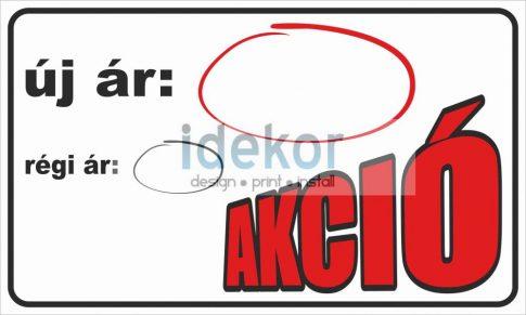 Akció felirat/tábla