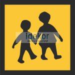 Gyermekszállítás fényvisszaverő autómatrica
