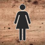Női WC piktogram
