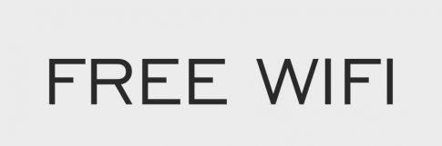 Free wifi felirat