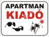 Apartman kiadó felirat/tábla