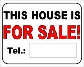 Ez a telek eladó felirat/tábla angolul