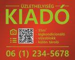Piros-zöld eladó/kiadó felirat/tábla egyedi információkkal