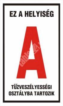 """Ez a helyiség """"A"""" tűzveszélyességi osztályba tartozik"""
