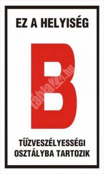 """Ez a helyiség """"B"""" tűzveszélyességi osztályba tartozik"""