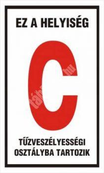 """Ez a helyiség """"C"""" tűzveszélyességi osztályba tartozik"""