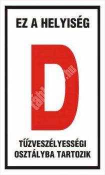 """Ez a helyiség """"D"""" tűzveszélyességi osztályba tartozik"""