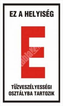 """Ez a helyiség """"E"""" tűzveszélyességi osztályba tartozik"""