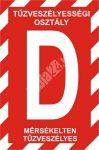 """""""D"""" tűzveszélyességi osztály"""
