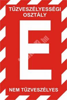 """""""E"""" tűzveszélyességi osztály"""