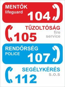 Segélyhívó telefonszámok