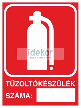 Utánvilágító tűzoltókészülék száma kötelező tábla