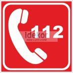 Utánvilágító segélyhívó 112 15x15cm