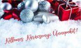 Karácsonyi köszöntő tábla 1