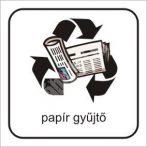 Szelektív papír gyűjtő