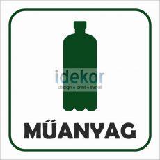 Műanyag szelektív gyűjtő felirat/matrica/tábla