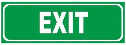Utánvilágító exit 25x9 cm