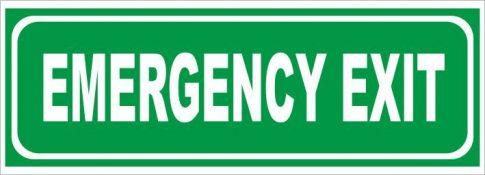 Utánvilágító emergency exit 25x9 cm