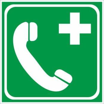 Utánvilágító segélyhívó telefon 15x15cm
