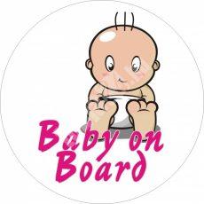 Baba, gyerek az autóban, Baby on board 7, autómatrica