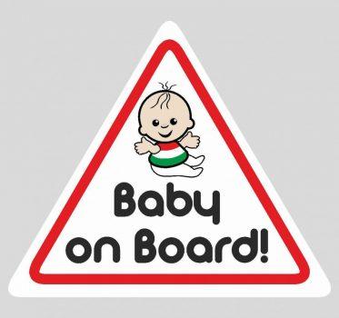 Baba, gyerek az autóban, Baby on board 8, autómatrica