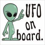 Baba, gyerek az autóban, UFO on board, autómatrica