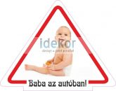 Baba, gyerek az autóban, Baby on board 5, autómatrica