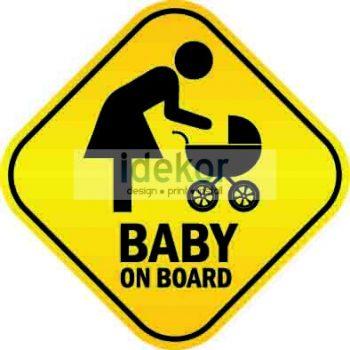 Baba, gyerek az autóban, Baby on board 3, autómatrica