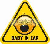 Baba, gyerek az autóban, Baby on board 2, autómatrica