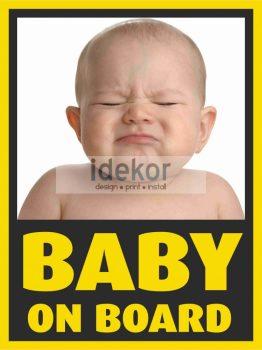 Baba, gyerek az autóban, Baby on board 1, autómatrica