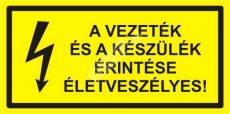 A vezeték és a készülékek ériintése életveszélyes!