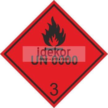 Gyúlékony folyékony anyagok 3 osztály UN számmal