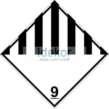 Különféle veszélyes anyagok és tárgyak 9 osztály