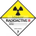 Radioaktív anyagok III sárga kategória