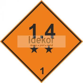 Robbanóanyagok és -tárgyak 1.4 alosztály